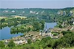 Les Andeleys (Les Andelys) et la Seine, Haute Normandie (Normandie), France, Europe