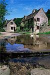 The ford, Duntisbourne Leer, Gloucestershire, The Cotswolds, England, United Kingdom, Europe