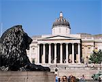 The National Gallery, Trafalgar Square, London, England, United Kingdom, Europe