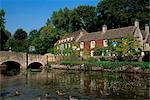 Hôtel Swan Bibury, Gloucestershire, les Cotswolds, Angleterre, Royaume-Uni, Europe