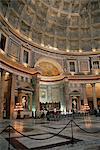 Interior of the Pantheon, Rome, Lazio, Italy, Europe