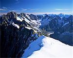 Massif du Mont Blanc près de Chamonix, Haute-Savoie, Savoie, France, Europe