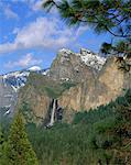 Bridalveil Fall, Yosemite National Park, California, United States of America, North America