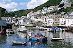 Le port, Polperro, Cornwall, Angleterre, Royaume-Uni, Europe