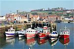 Whitby harbour, Yorkshire, England, United Kingdom, Europe