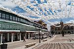 Place principale décorée pour une fête, Almagro, Castilla-La Mancha, Espagne, Europe