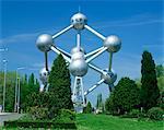 The Atomium, Brussels, Belgium, Europe