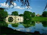 Pont, lac et house, le Palais de Blenheim, Oxfordshire, Angleterre, Royaume-Uni, Europe