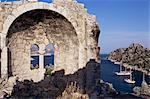 Ruiné priory, Kargi Bay, Aegean coast, Anatolie, Turquie, Asie mineure, Eurasie