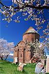 L'Église arménienne de la Sainte-Croix sur l'île d'Akdamar dans l'Eurasie orientale de la Turquie, Asie mineure, lac de Van, Anatolie,