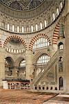 Intérieur de la mosquée Selimiye, Edirne, Anatolie, Turquie, Asie mineure, Eurasie