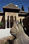 Porte des Lions, Alhambra, UNESCO World Heritage Site, Grenade, Andalousie, Espagne, Europe