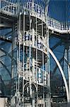 Escalier en colimaçon dans le Palm House lors de rénovations, avant que les plantes avaient été remplacés, Royal Botanic Gardens Kew (Kew Gardens), patrimoine mondial de l'UNESCO, Londres, Royaume-Uni, Europe