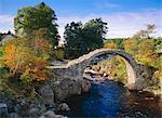 Old Bridge of Carr, Carrbridge, Highlands Region, Scotland, United Kingdom, Europe