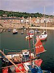 Mousehole harbour, Cornwall, Angleterre, Royaume-Uni, Europe