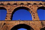Roman aqueduct, Pont du Gard, near Nimes, Languedoc, France, Europe