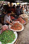 Rue du marché, Bangkok, Thaïlande, Asie du sud-est, Asie