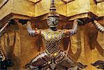 Temple figure, Grand Palais, Bangkok, Thaïlande, Asie