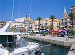 Waterfront, Calvi, island of Corsica, France, Mediterranean, Europe