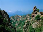 La Calanche, côte ouest, l'île de Corse, Méditerranée, Europe