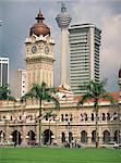 Sultan Abdul Samad Building et la tour KL dans la ville de Kuala Lumpur, Malaisie, Asie du sud-est, Asie