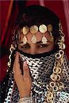 Portrait of bride, Lamia, Tatouine, Tunisia, North Africa, Africa