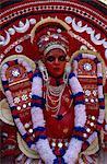Chamundi Deity, Teyyam Ritual Dance, Nellilkathuruth Temple, Chervanthur, Kerala state, India, Asia