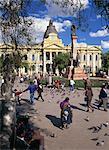 Government building in the Plaza Murillo, La Paz, Bolivia, South America