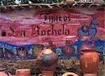 Wall paintings, Raqira, near Villa de Leyva, Boyaca Region, Colombia, South America