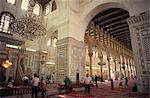 Interior of the Omayad (Umayyad) Mosque, Damascus, Syria, Middle East