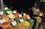 Gewürze in Markt, Aswan, Oberägypten, Ägypten, Nordafrika, Afrika