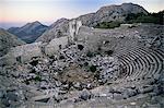 L'amphithéâtre de Termessos, Anatolie, Turquie, Asie mineure, Eurasie
