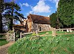 Église Saint-Barthélemy, datant de vers 1060, la plus petite église dans le Surrey, Wanborough, Surrey, Angleterre, Royaume-Uni, Europe