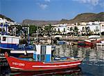 Fischerboote im alten Hafen, Puerto de Mogan, Gran Canaria, Kanarische Inseln, Spanien, Atlantik, Europa