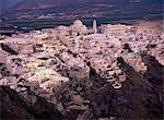 Dusk, Thira, Santorini, Cyclades, Greek Islands, Greece, Europe