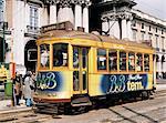 British built trams, Lisbon, Portugal, Europe