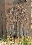 Soulagement d'Adam et Ève sur l'Église arménienne, construit en 915 AD, l'île d'Akdamar, lac de Van, Anatolie, Turquie, Asie mineure, Eurasie