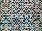 Détail des carreaux dans le Harem, Palais de Topkapi, Istanbul, Turquie, Europe