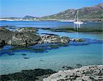 Sanna Beach from Portuairk, Ardnamurchan, Highland region, Scotland, United Kingdom, Europe