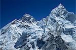 Enneigés pic du Mont Everest, à partir de Kala Pattar, montagnes de l'Himalaya, Népal, Asie