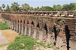 The 12th century bridge, near Siem Reap, Cambodia, Indochina, Southeast Asia, Asia