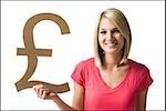 Frau halten britische Pfund