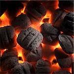coals burning