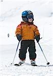 Boy on skis