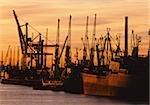 Hamburg Harbor in the evening, Germany
