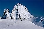 Cross-Country Skiing on Juneau Icefield SE Alaska scenic