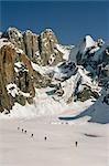 X-Country Skiers Ruth Amphitheater Denali NP Ak