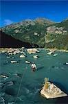 Man Fishing Chilkoot River Haines Southeast Alaska scenic