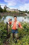 Happy Fisherman w/King Salmon @ Ship Crk Anchorage AK SC Summer Slam'nSalmon Derby