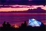 People Camping @ Anchor River Kenai Peninsula Alaska Summer Scenic